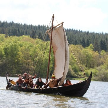 Un bateau viking à la Confrérie Normande